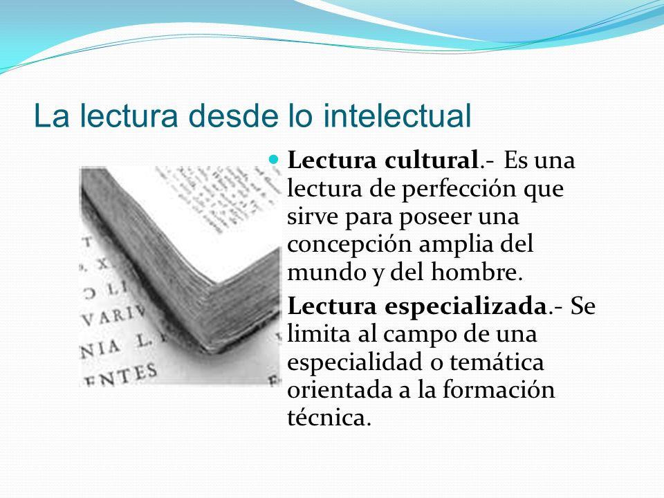 La lectura desde lo intelectual