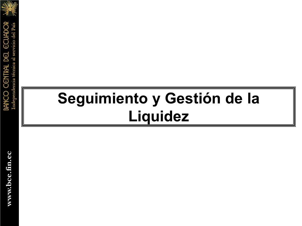 Seguimiento y Gestión de la Liquidez
