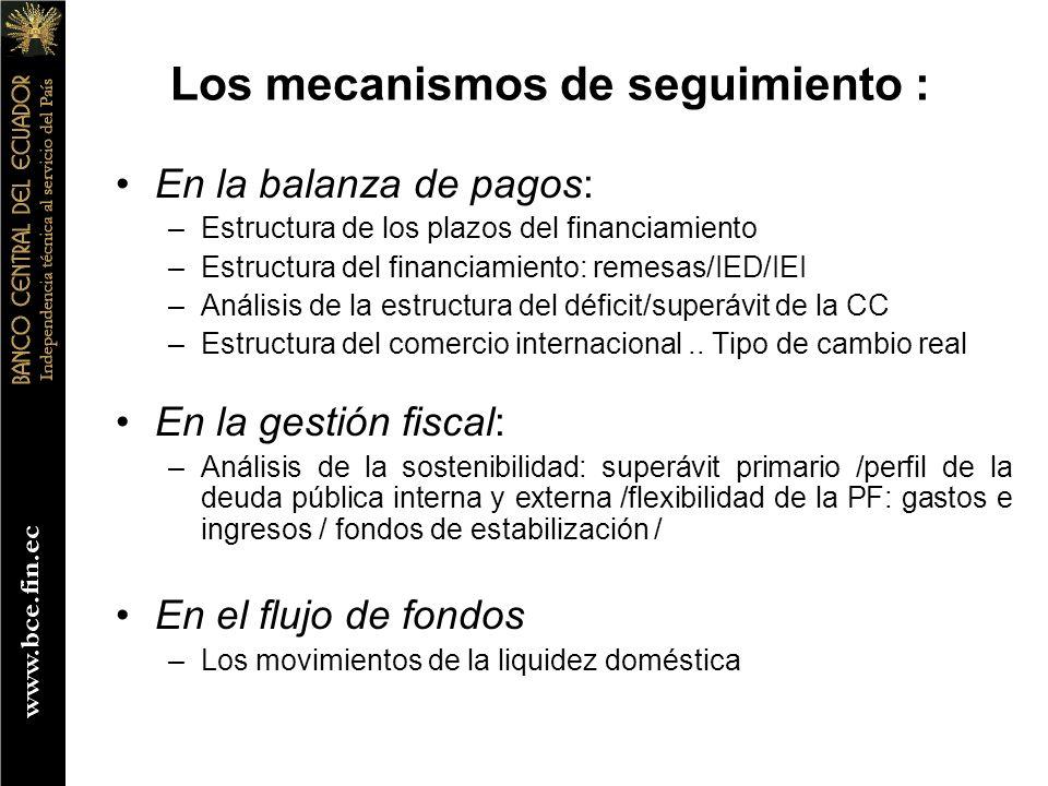 Los mecanismos de seguimiento :