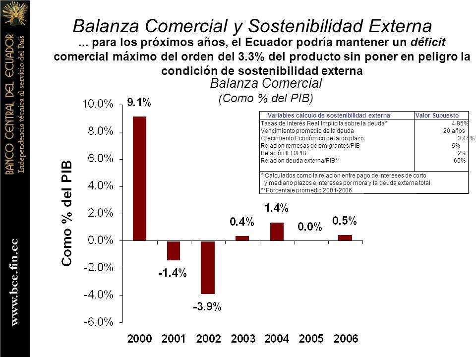 Balanza Comercial y Sostenibilidad Externa