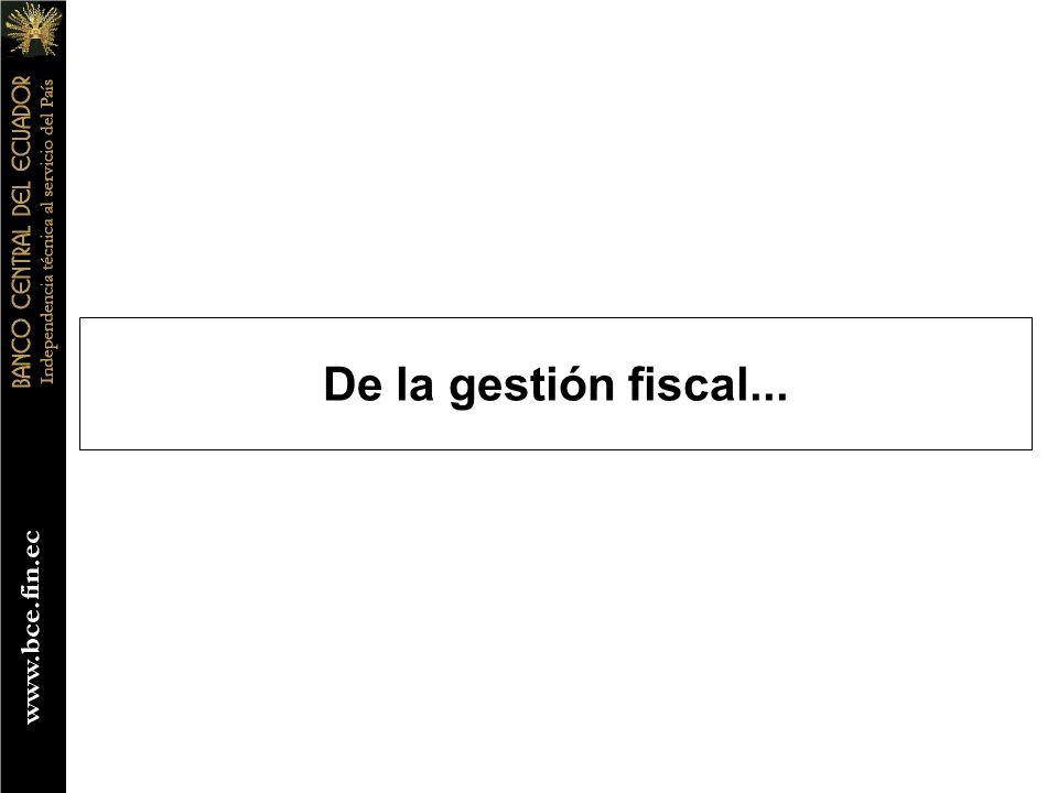 De la gestión fiscal...