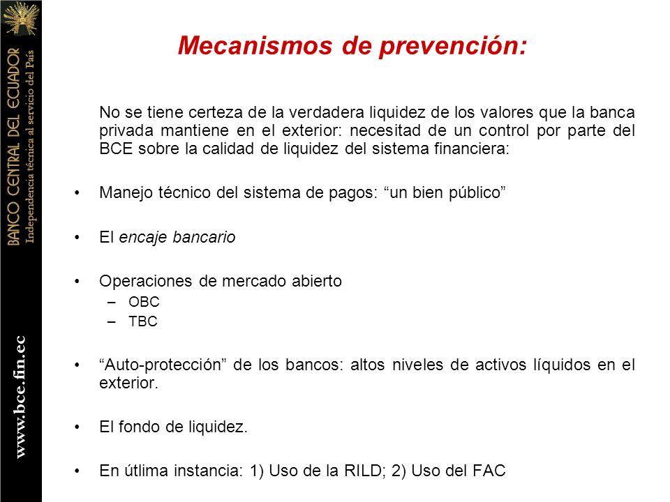 Mecanismos de prevención:
