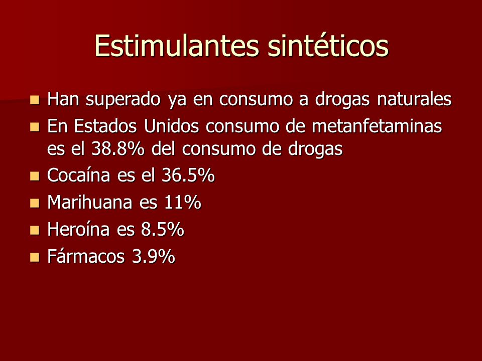 Estimulantes sintéticos
