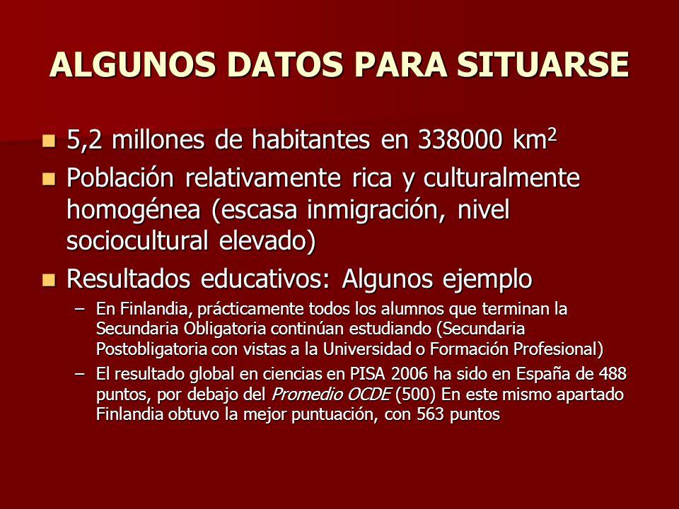 ALGUNOS DATOS PARA SITUARSE