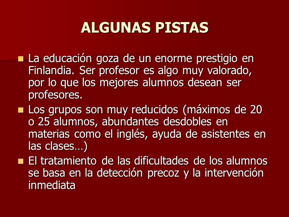 ALGUNAS PISTAS