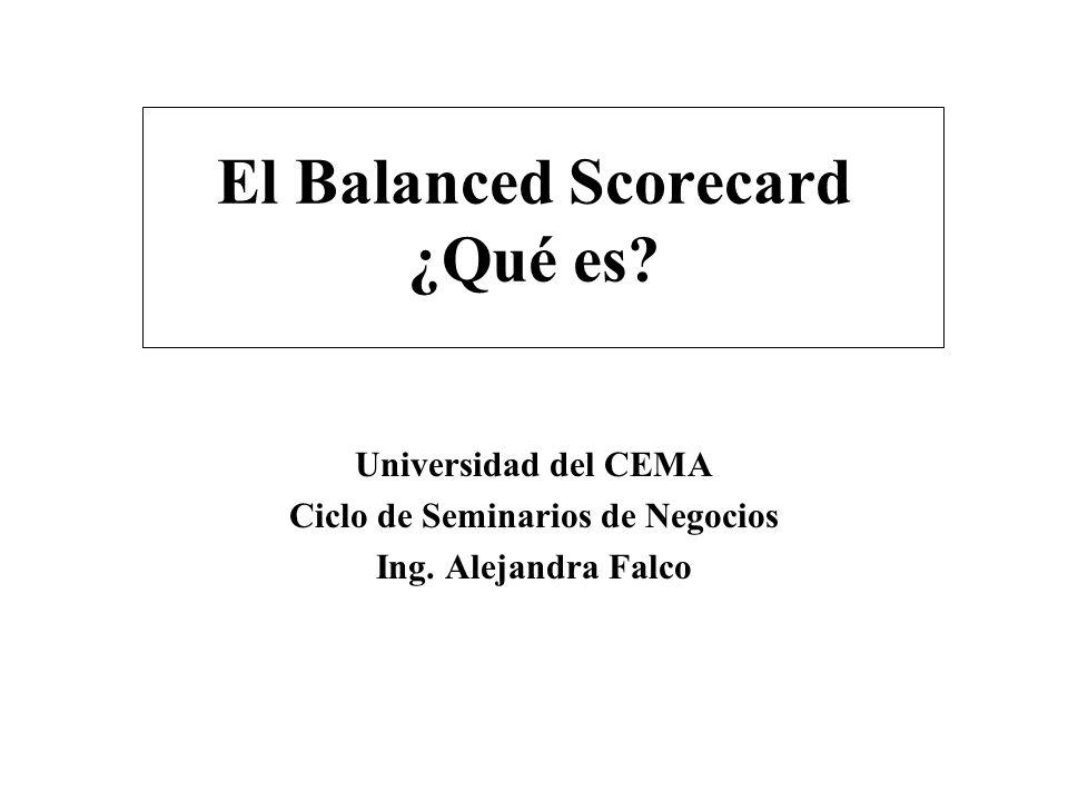 El Balanced Scorecard ¿Qué es
