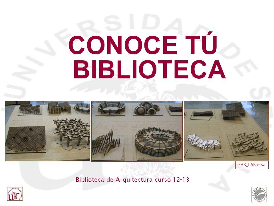 CONOCE TÚ BIBLIOTECA