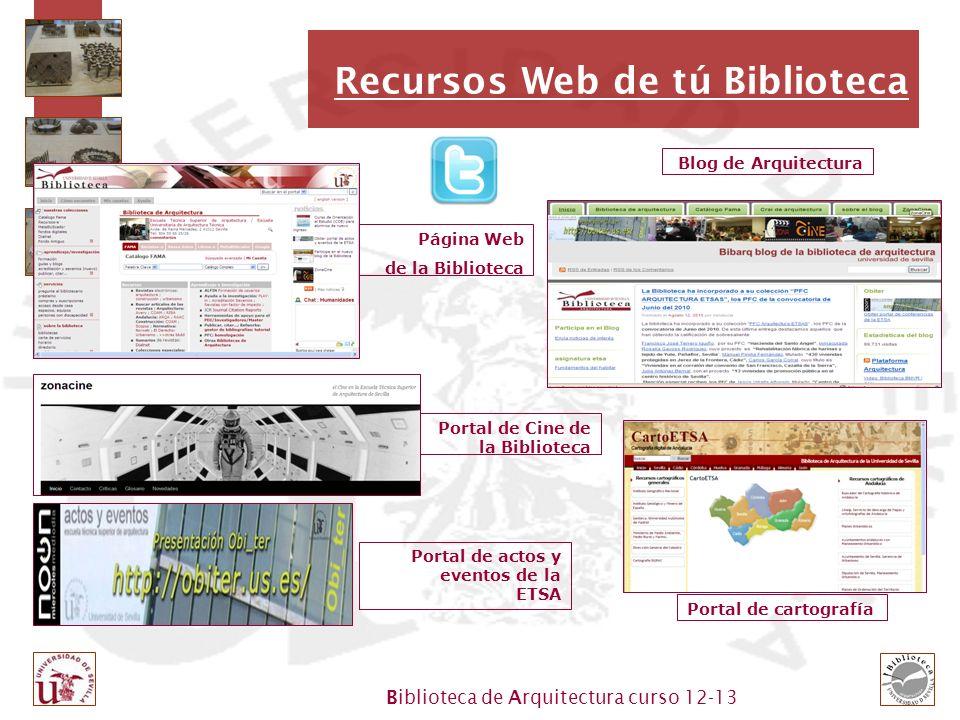 Recursos Web de tú Biblioteca