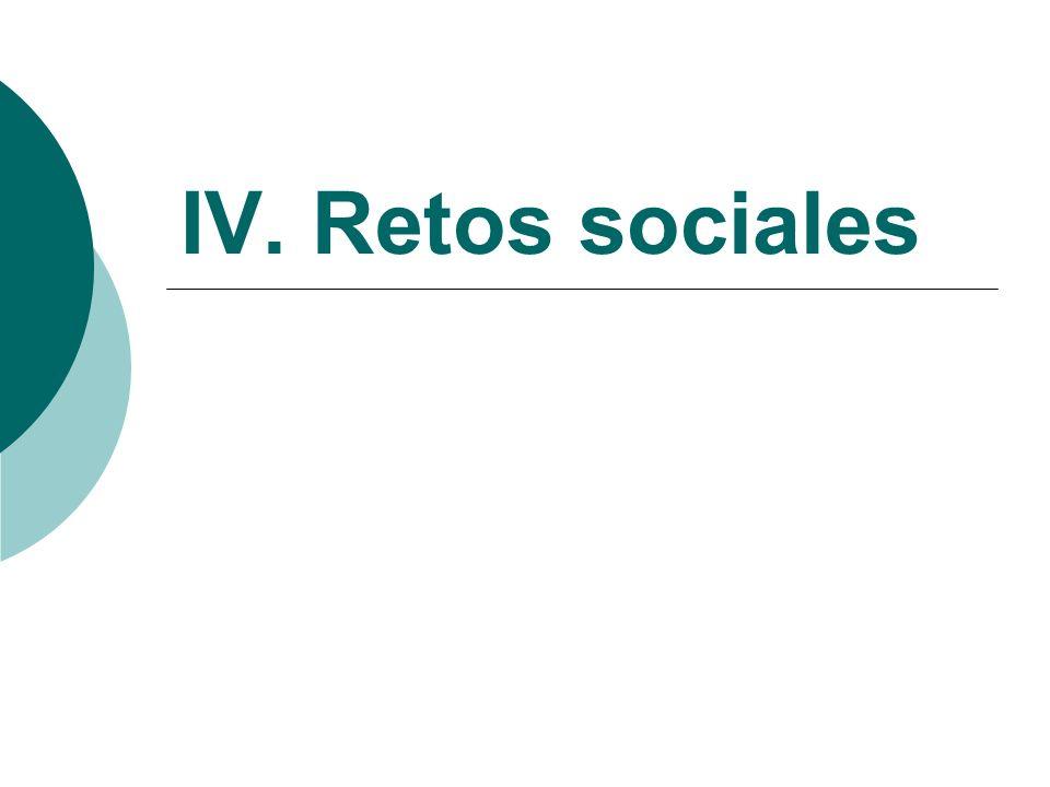 IV. Retos sociales