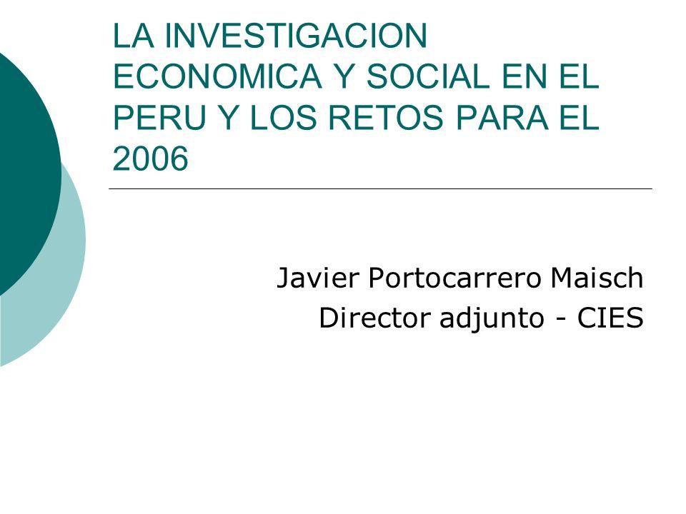 Javier Portocarrero Maisch Director adjunto - CIES