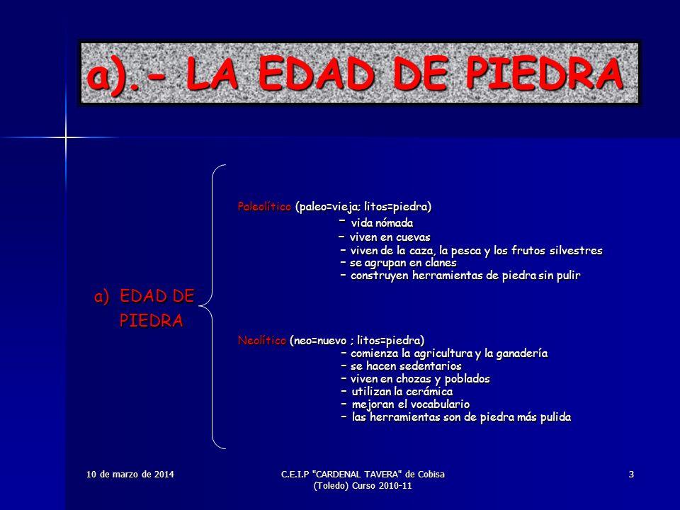 C.E.I.P CARDENAL TAVERA de Cobisa (Toledo) Curso 2010-11