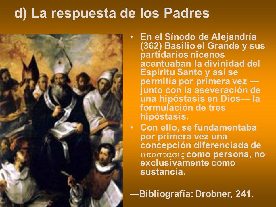 d) La respuesta de los Padres