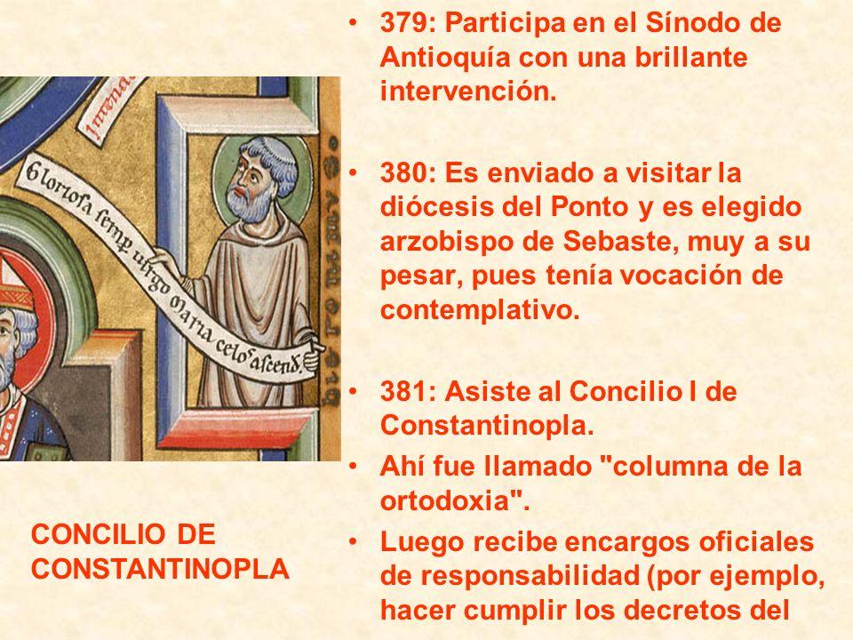 379: Participa en el Sínodo de Antioquía con una brillante intervención.