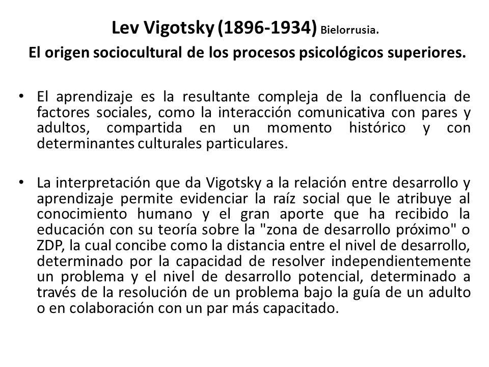 Lev Vigotsky (1896-1934) Bielorrusia