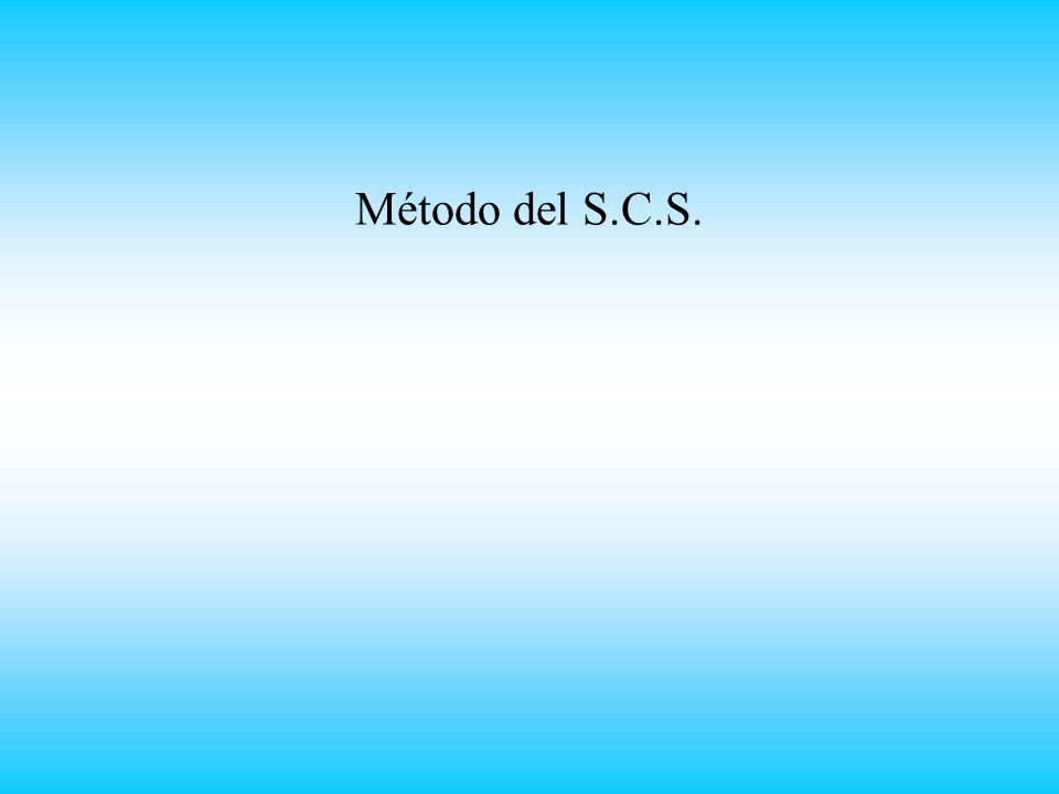 Método del S.C.S.