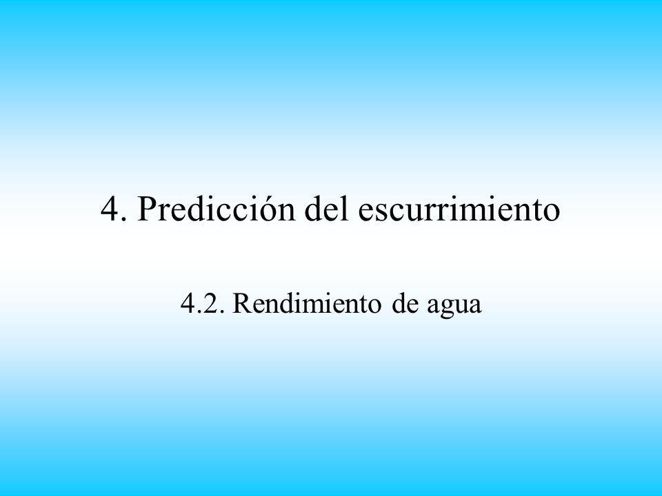4. Predicción del escurrimiento