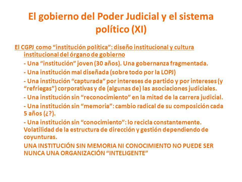 El gobierno del Poder Judicial y el sistema político (XI)