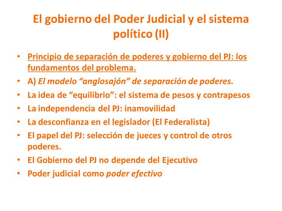 El gobierno del Poder Judicial y el sistema político (II)