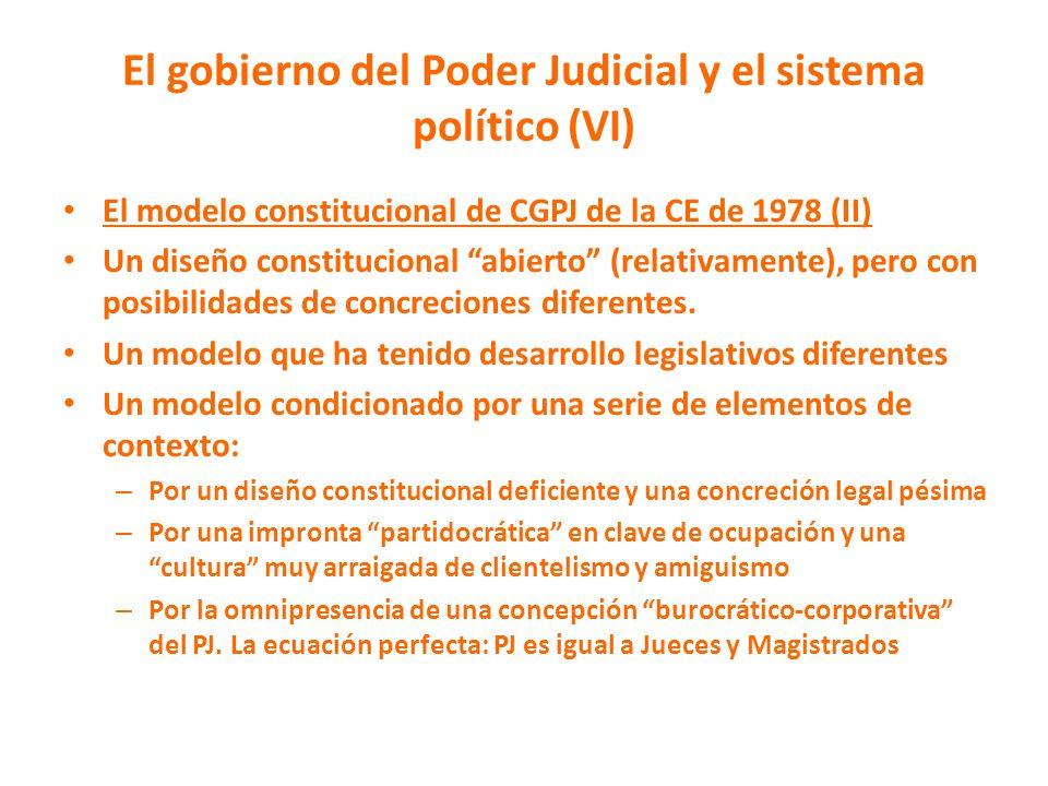 El gobierno del Poder Judicial y el sistema político (VI)