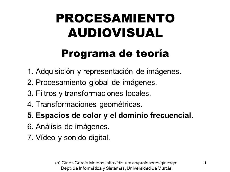 PROCESAMIENTO AUDIOVISUAL Programa de teoría