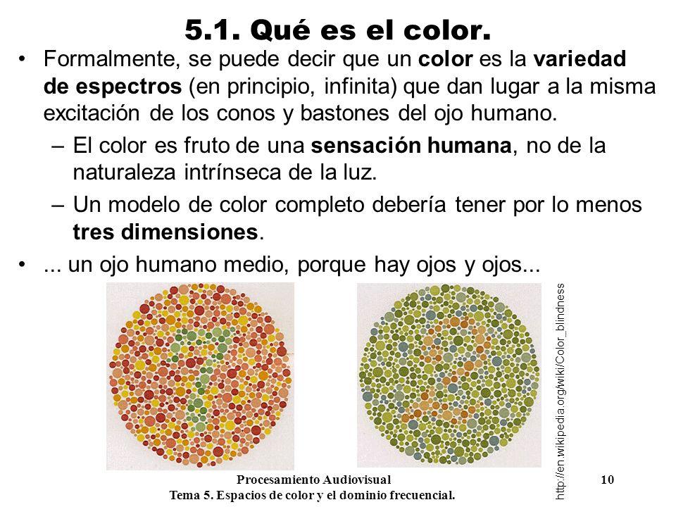 5.1. Qué es el color.