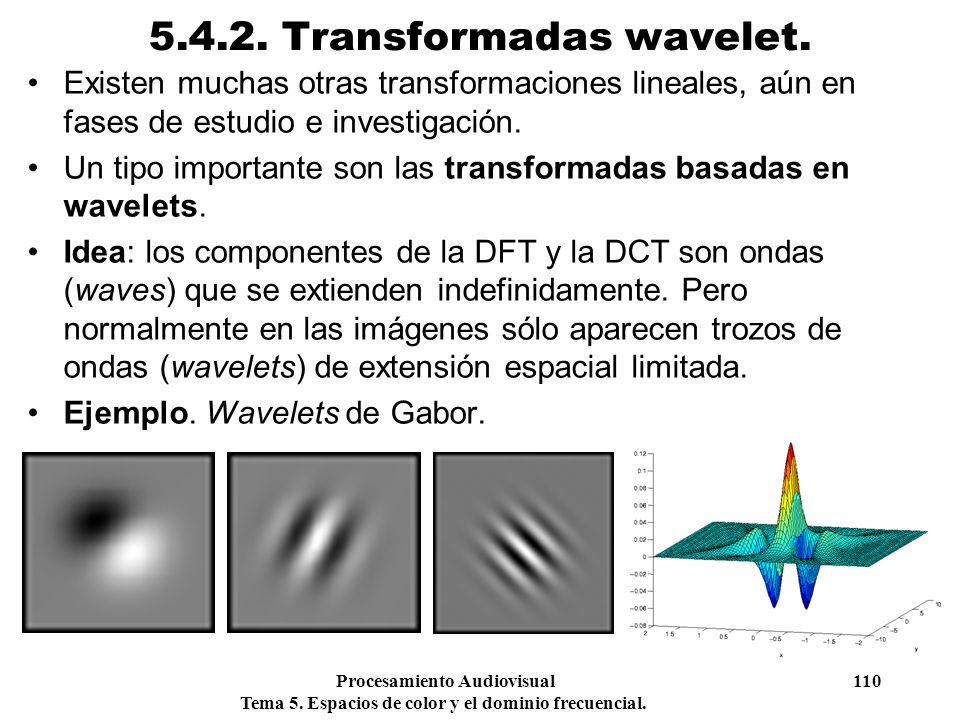 5.4.2. Transformadas wavelet.