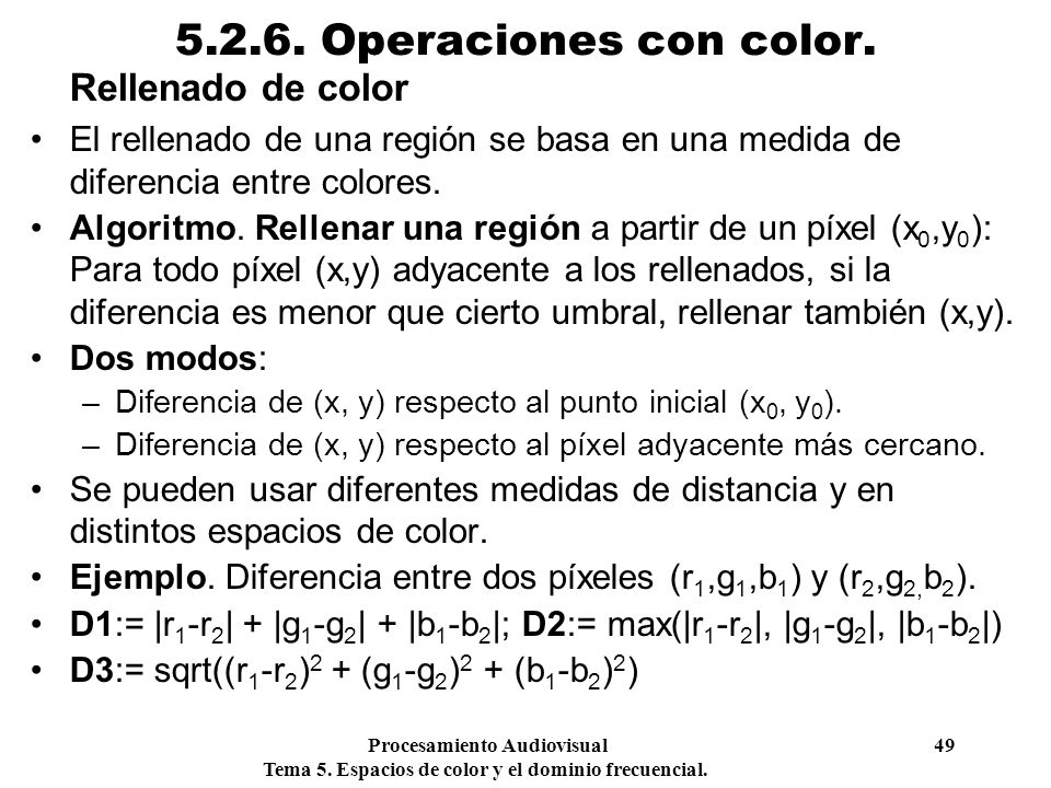 5.2.6. Operaciones con color. Rellenado de color