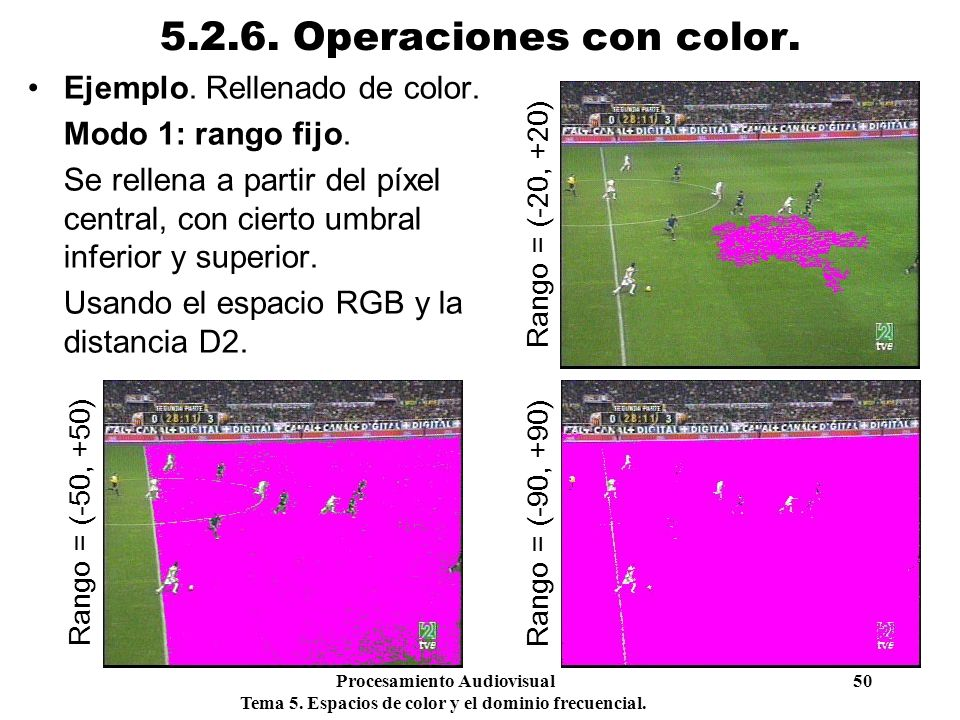 5.2.6. Operaciones con color. Ejemplo. Rellenado de color.
