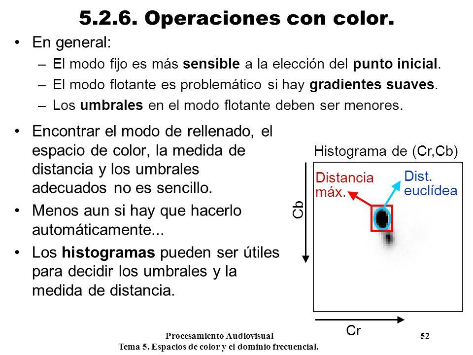 5.2.6. Operaciones con color. En general: