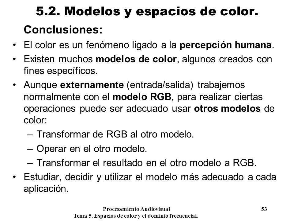 5.2. Modelos y espacios de color.