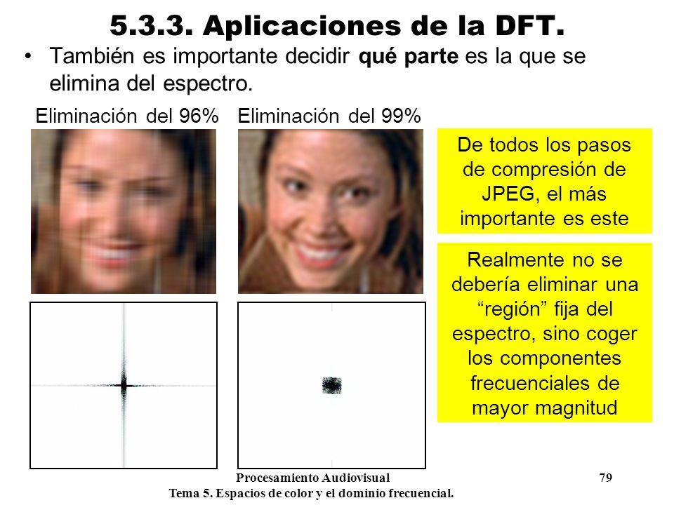 De todos los pasos de compresión de JPEG, el más importante es este