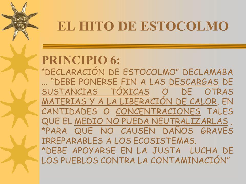 EL HITO DE ESTOCOLMO PRINCIPIO 6: