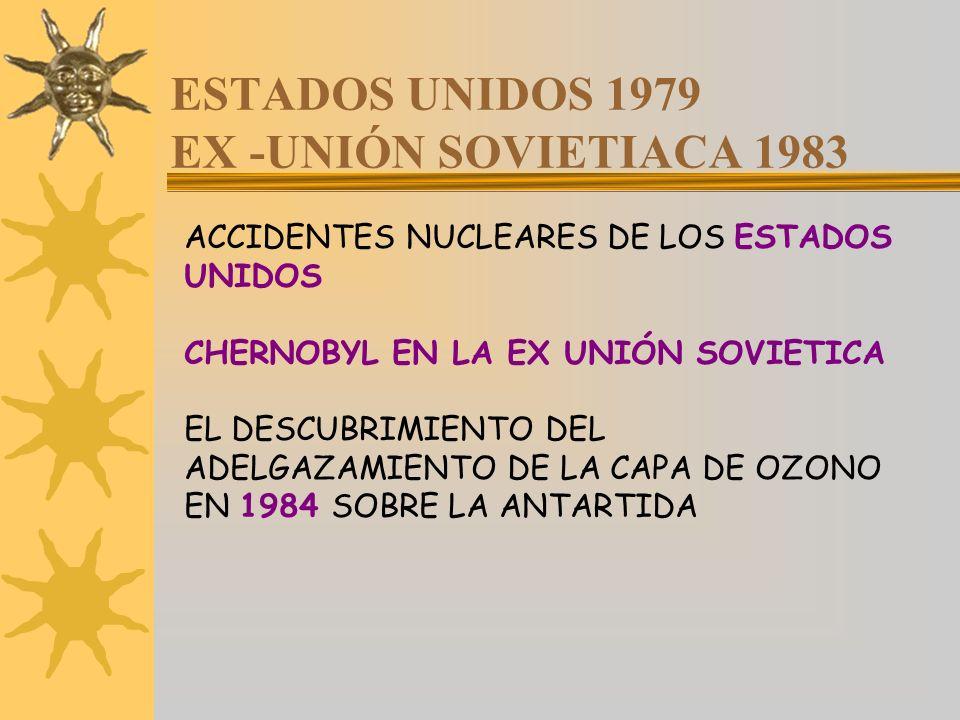 ESTADOS UNIDOS 1979 EX -UNIÓN SOVIETIACA 1983