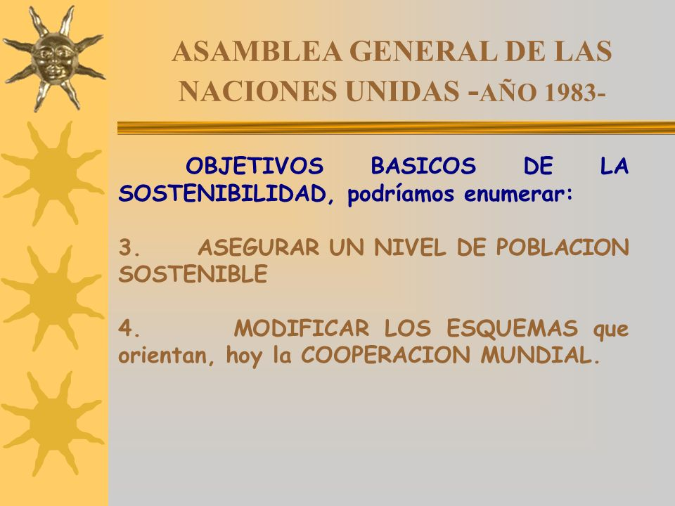 ASAMBLEA GENERAL DE LAS NACIONES UNIDAS -AÑO 1983-