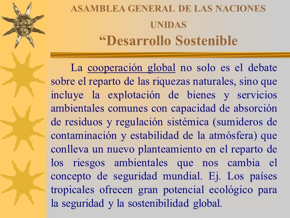 ASAMBLEA GENERAL DE LAS NACIONES UNIDAS Desarrollo Sostenible