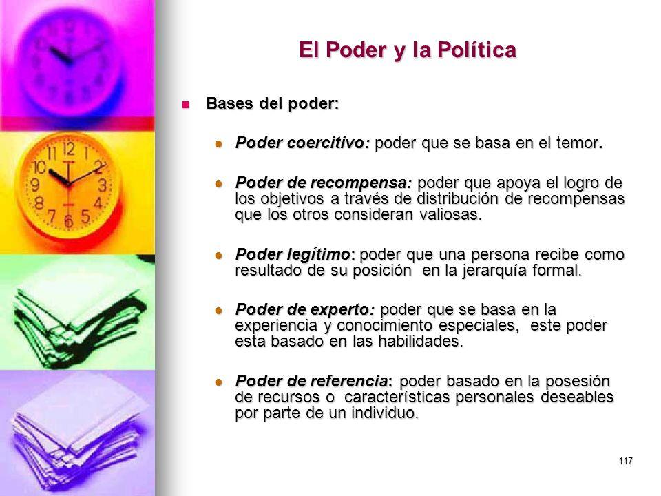 El Poder y la Política Bases del poder: