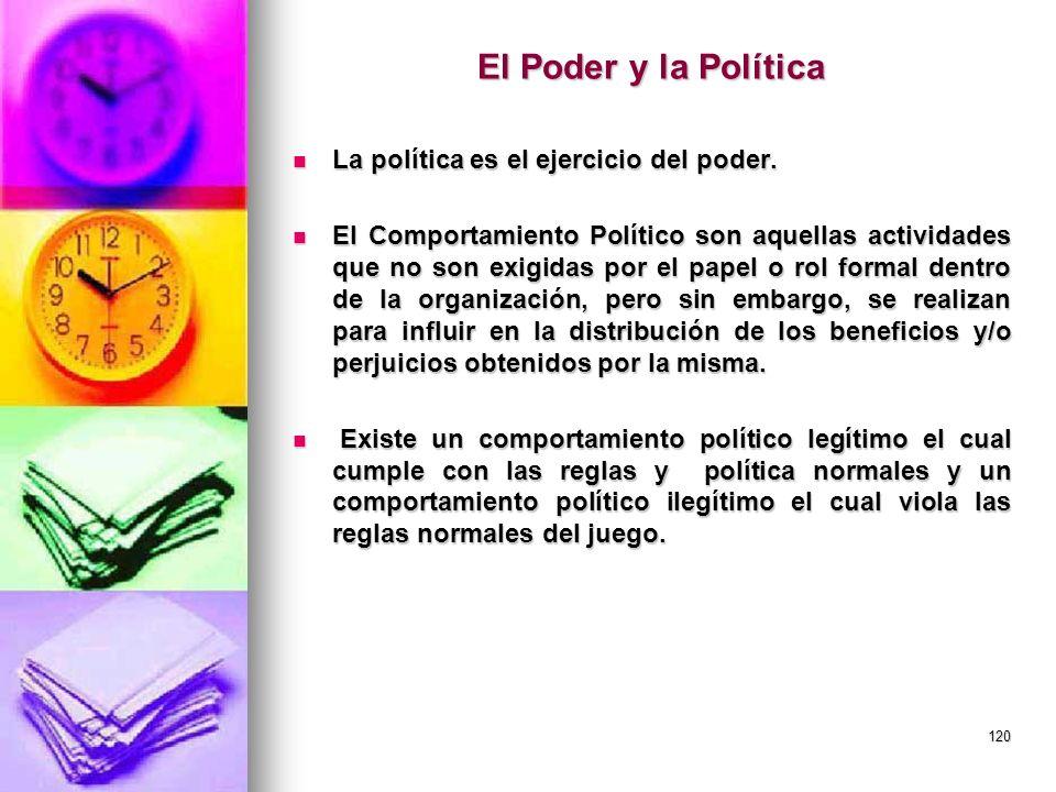 El Poder y la Política La política es el ejercicio del poder.
