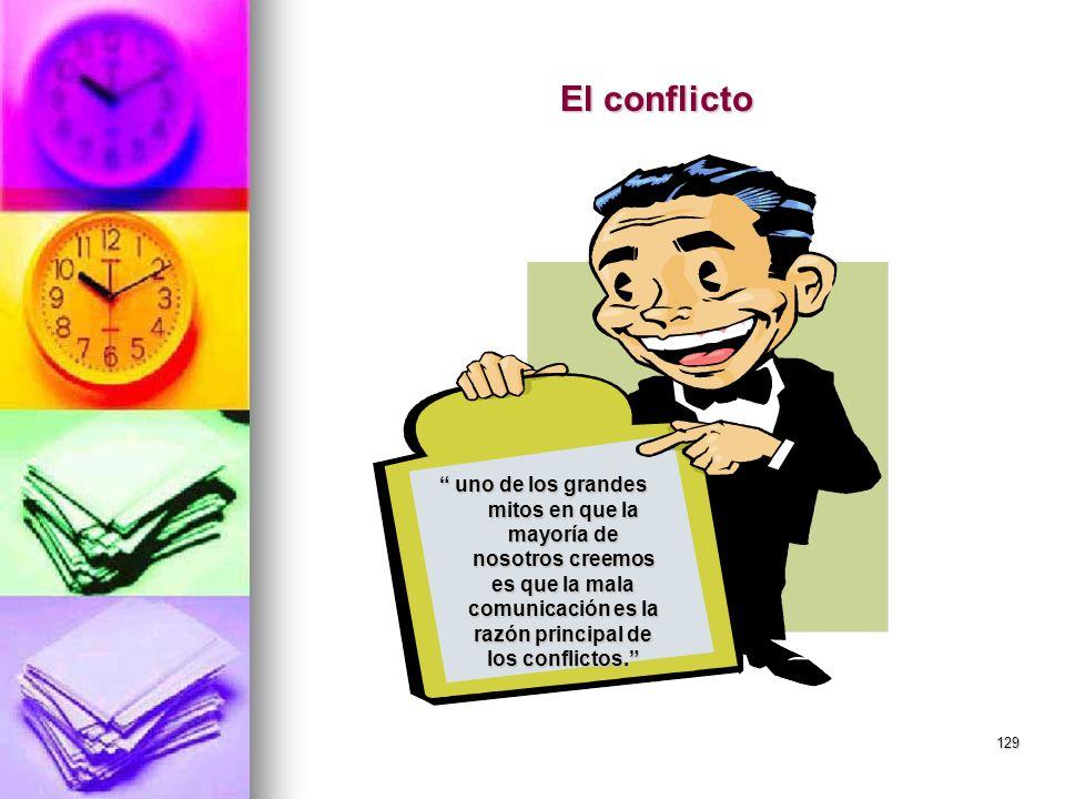 El conflicto uno de los grandes mitos en que la mayoría de nosotros creemos es que la mala comunicación es la razón principal de los conflictos.