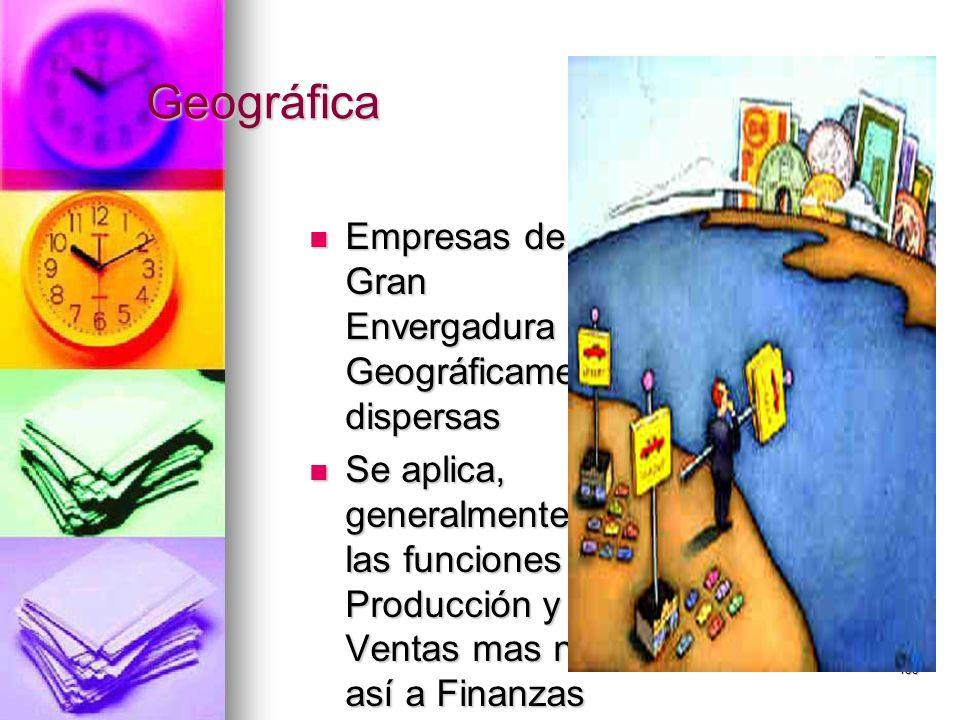 Geográfica Empresas de Gran Envergadura Geográficamente dispersas