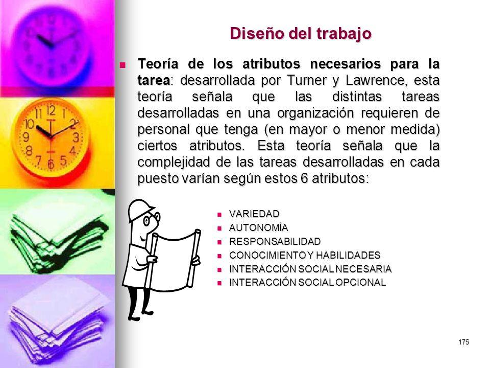 Diseño del trabajo