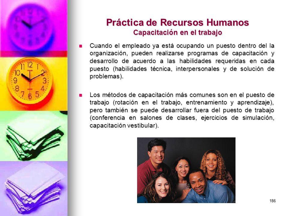Práctica de Recursos Humanos Capacitación en el trabajo