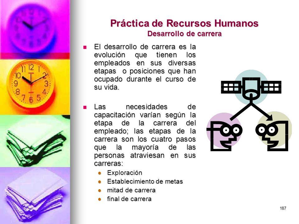 Práctica de Recursos Humanos Desarrollo de carrera
