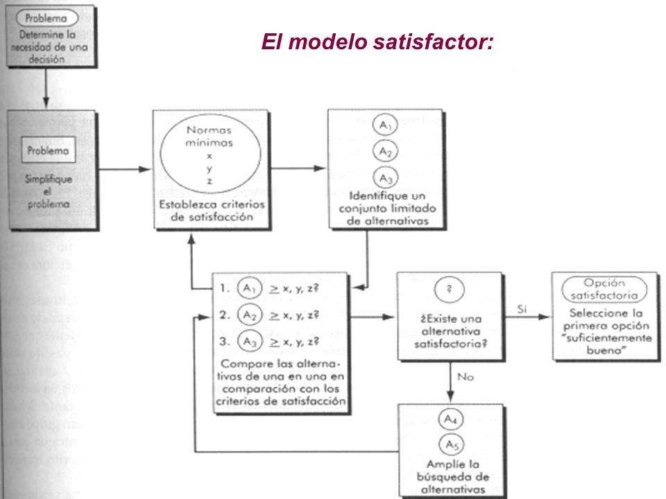 El modelo satisfactor: