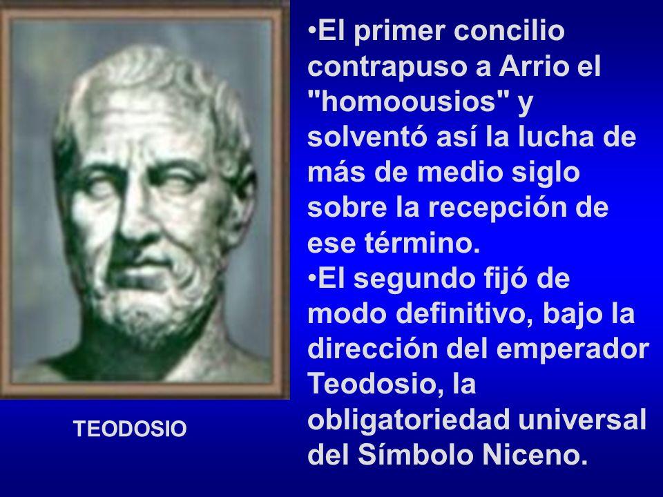 El primer concilio contrapuso a Arrio el homoousios y solventó así la lucha de más de medio siglo sobre la recepción de ese término.