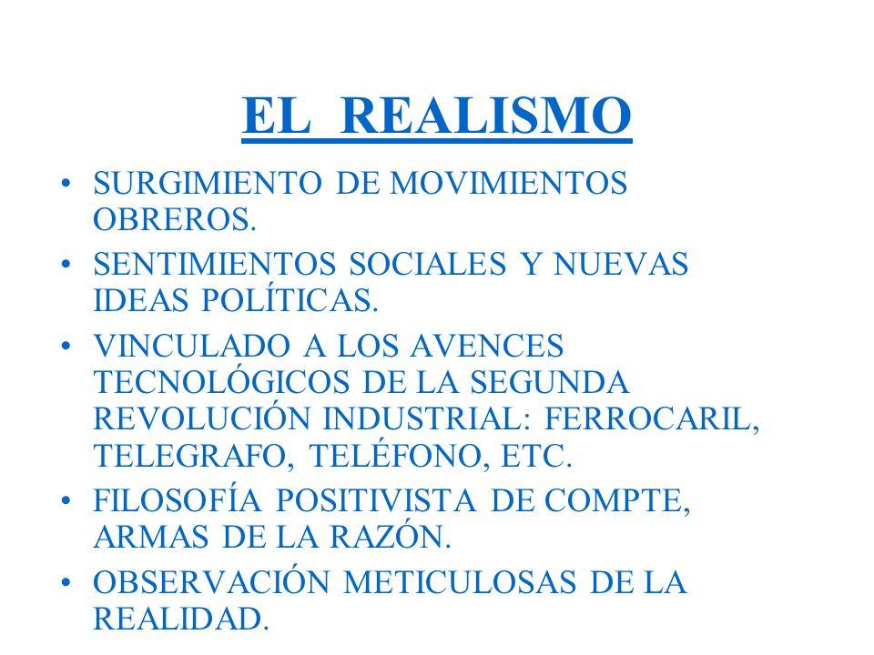 EL REALISMO SURGIMIENTO DE MOVIMIENTOS OBREROS.