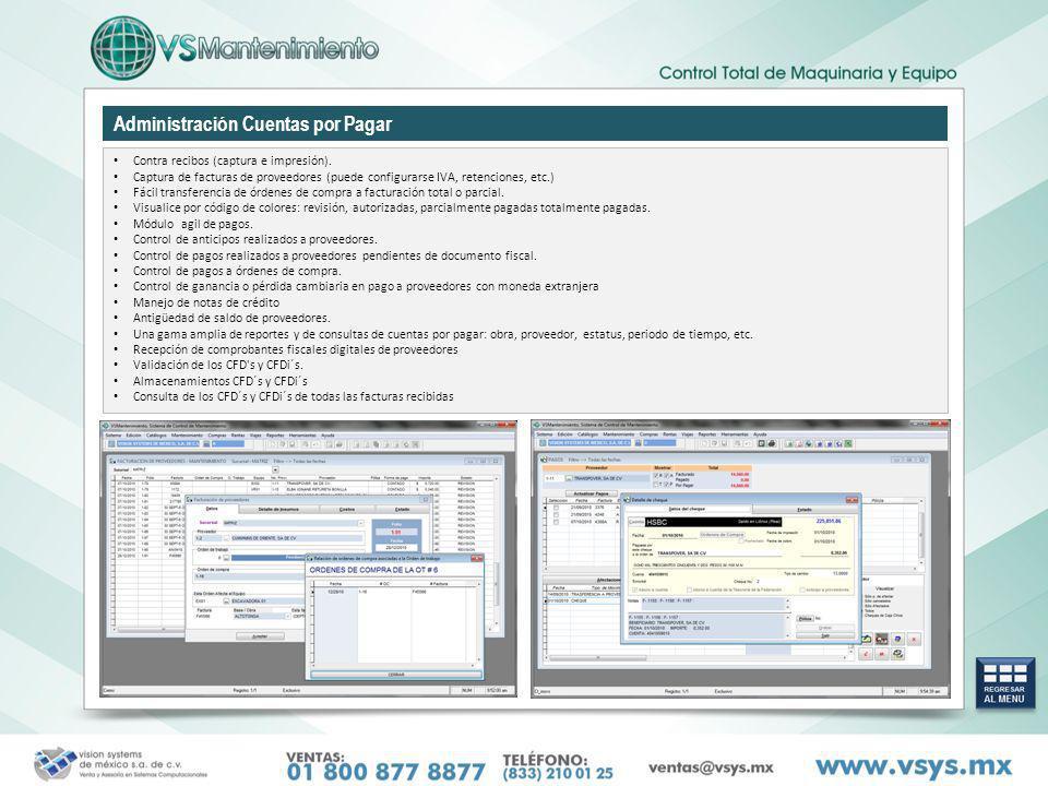 Administración Cuentas por Pagar