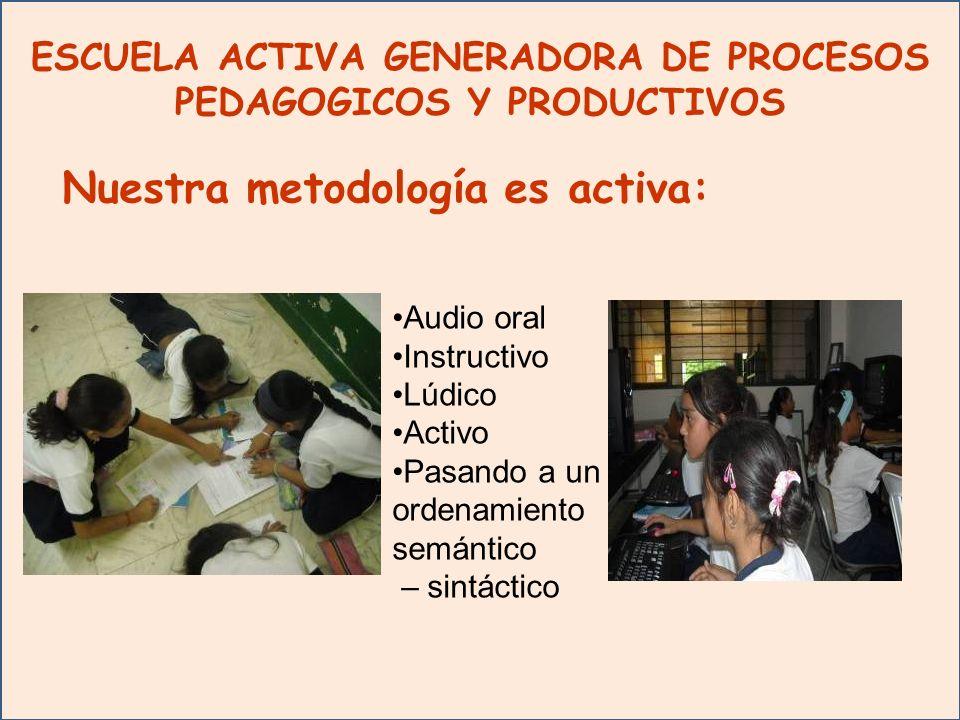 ESCUELA ACTIVA GENERADORA DE PROCESOS PEDAGOGICOS Y PRODUCTIVOS