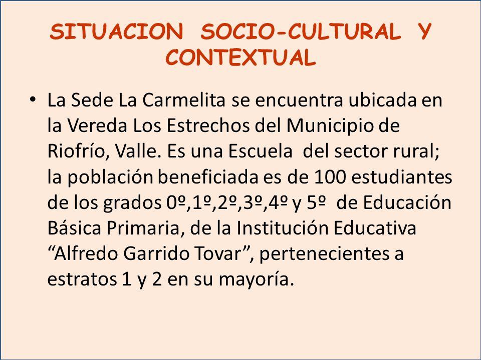 SITUACION SOCIO-CULTURAL Y CONTEXTUAL