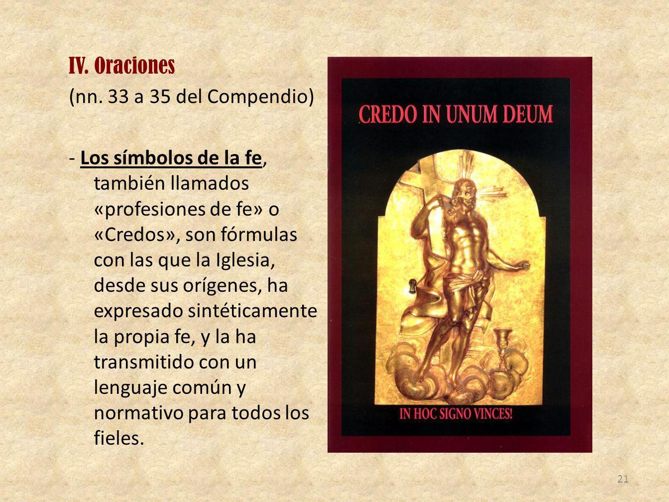 IV. Oraciones (nn.