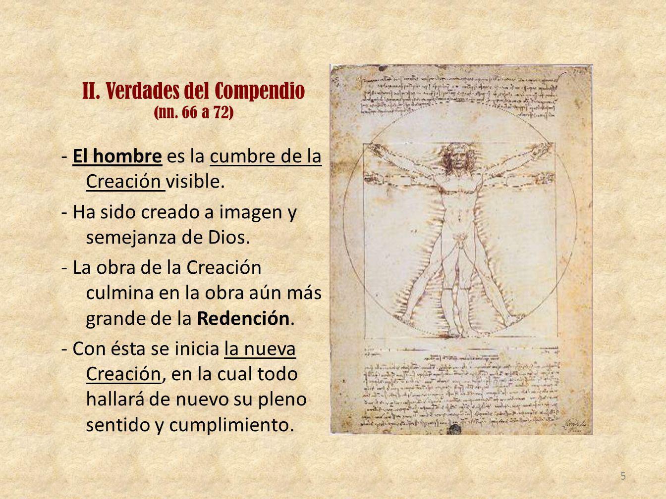 II. Verdades del Compendio (nn. 66 a 72)